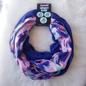 Accessories - NWT 2 Pack Infinity Scarf Set - Blue & Printed